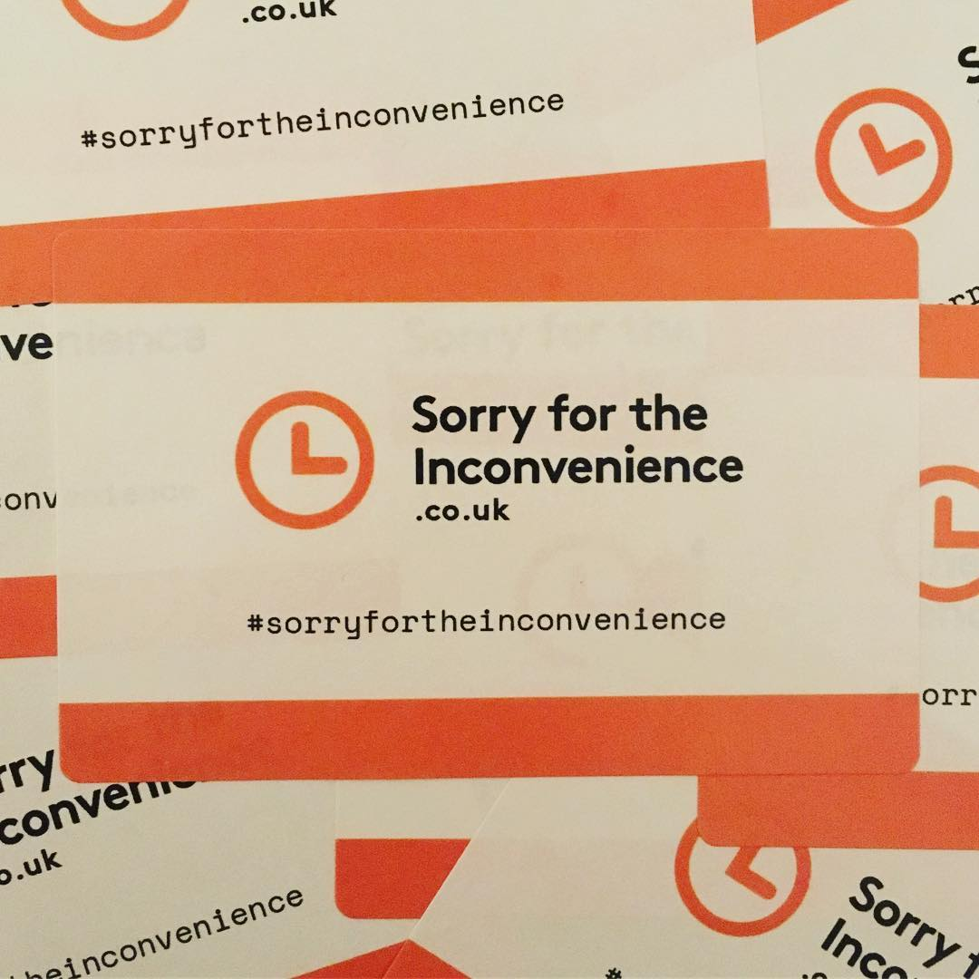 Sorry for the Inconvenience stickers now available